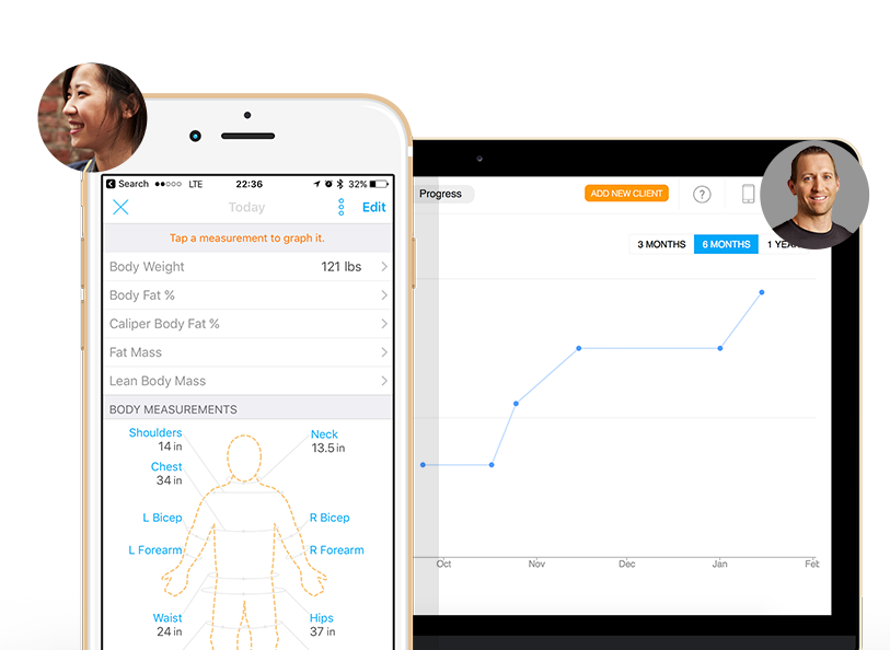 Trainerize Software client body measurements