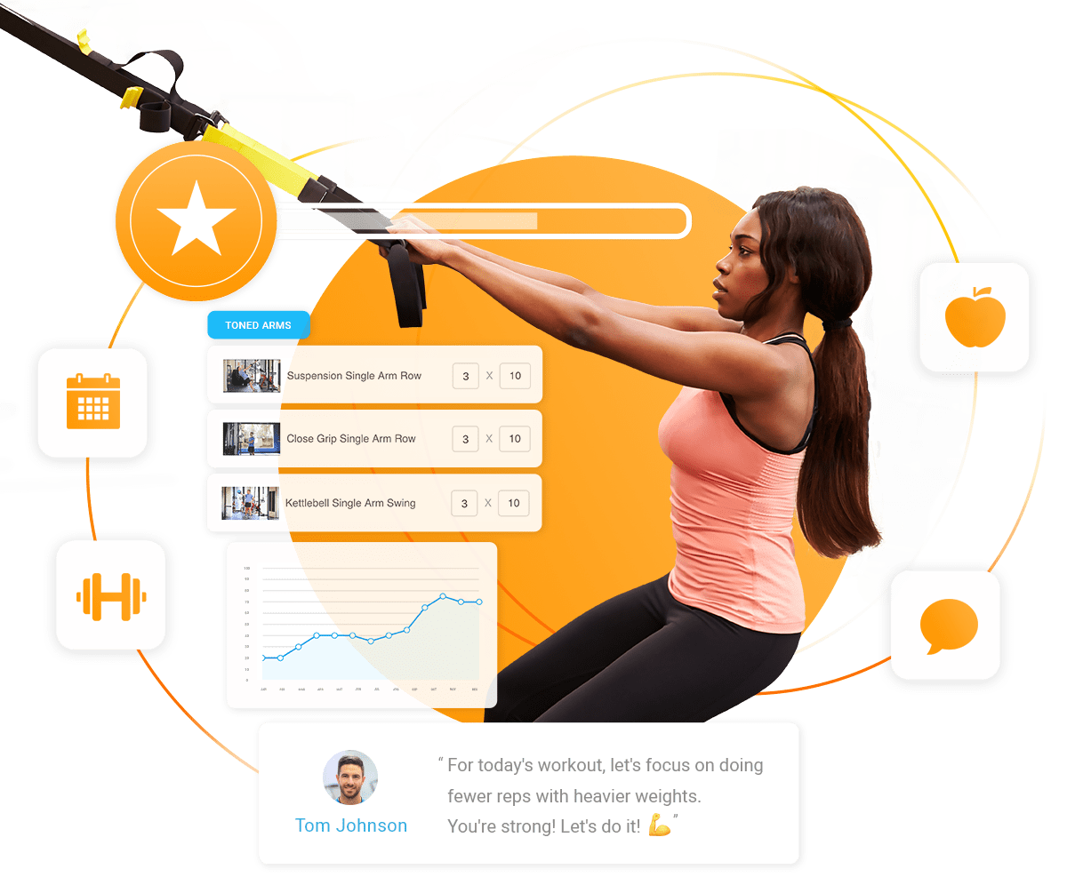 trainerize personal training workout app for fitness professionals and fitness clubs