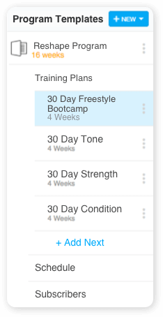 trainerize online training app to deliver online training plans and packages