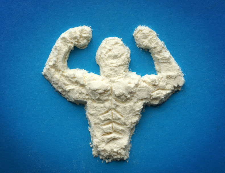 build muscle with protein supplements
