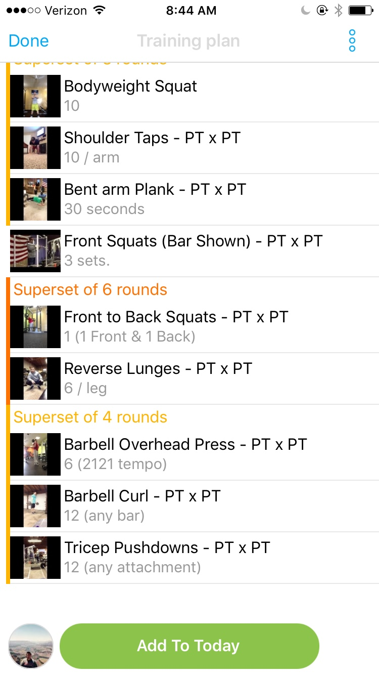 PT x PT training clients using Trainerize