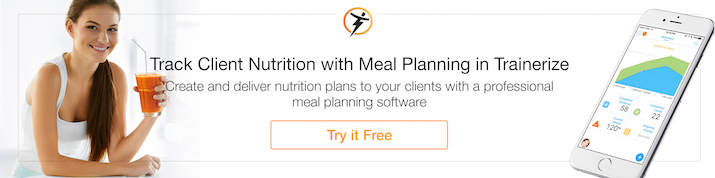 track client nutrition with meal planning in Trainerize