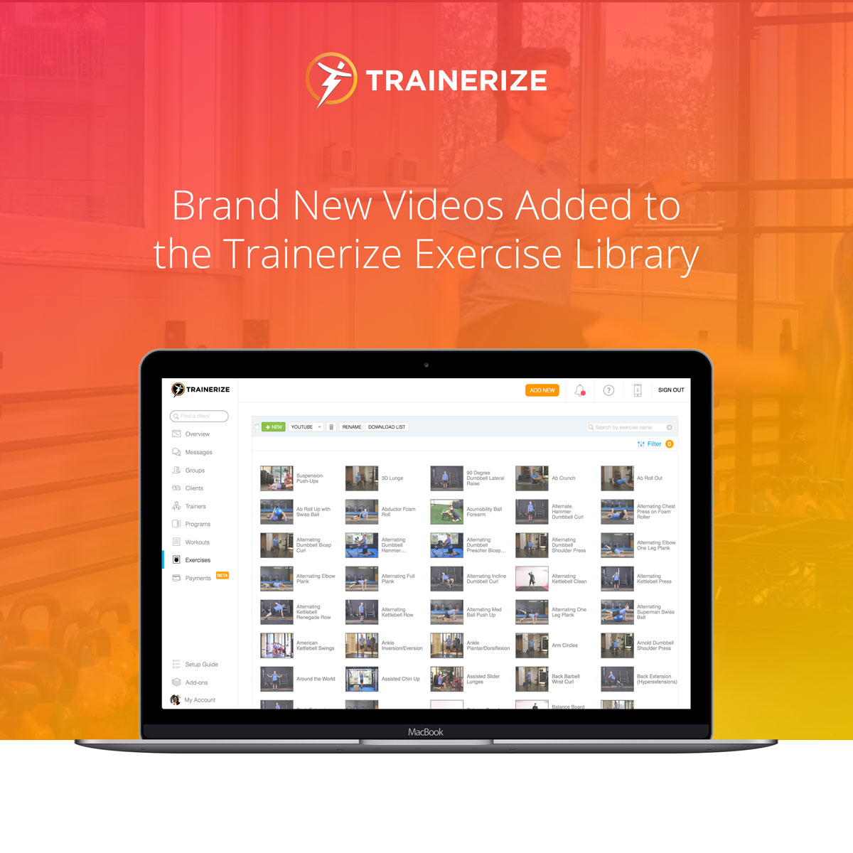 New Exercise Videos Added to the Trainerize Exercise Library