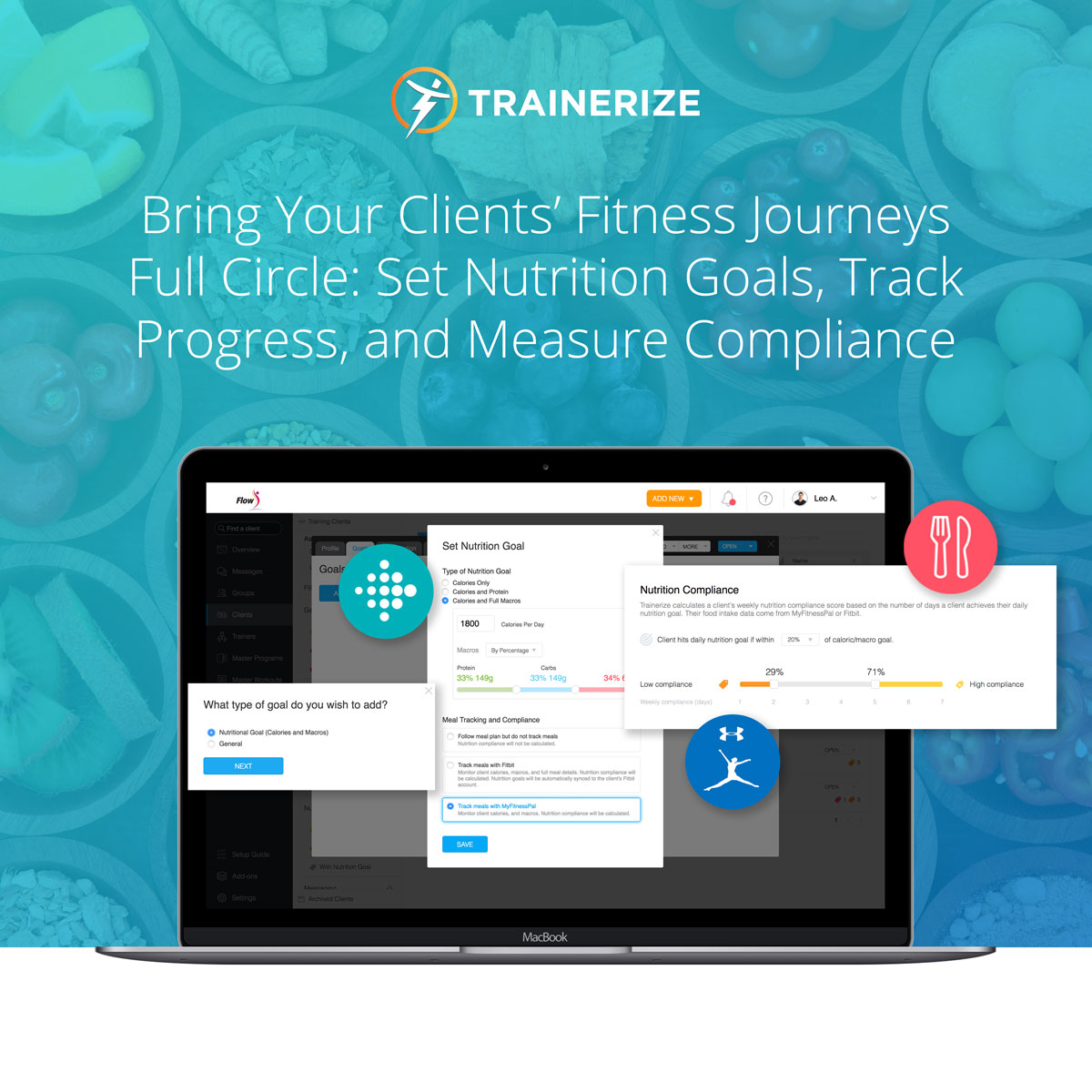 Trainerize Upgrade: Set Nutrition Goals, Track Progress, and Monitor Compliance