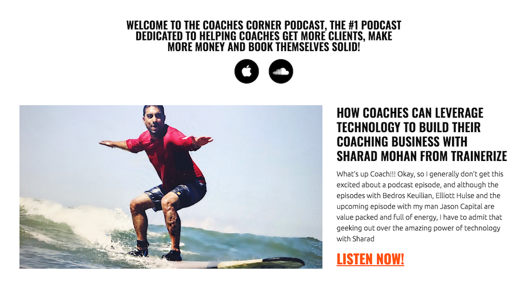 Sharad Mohan, Trainerize CEO, Featured in The Coaches Corner
