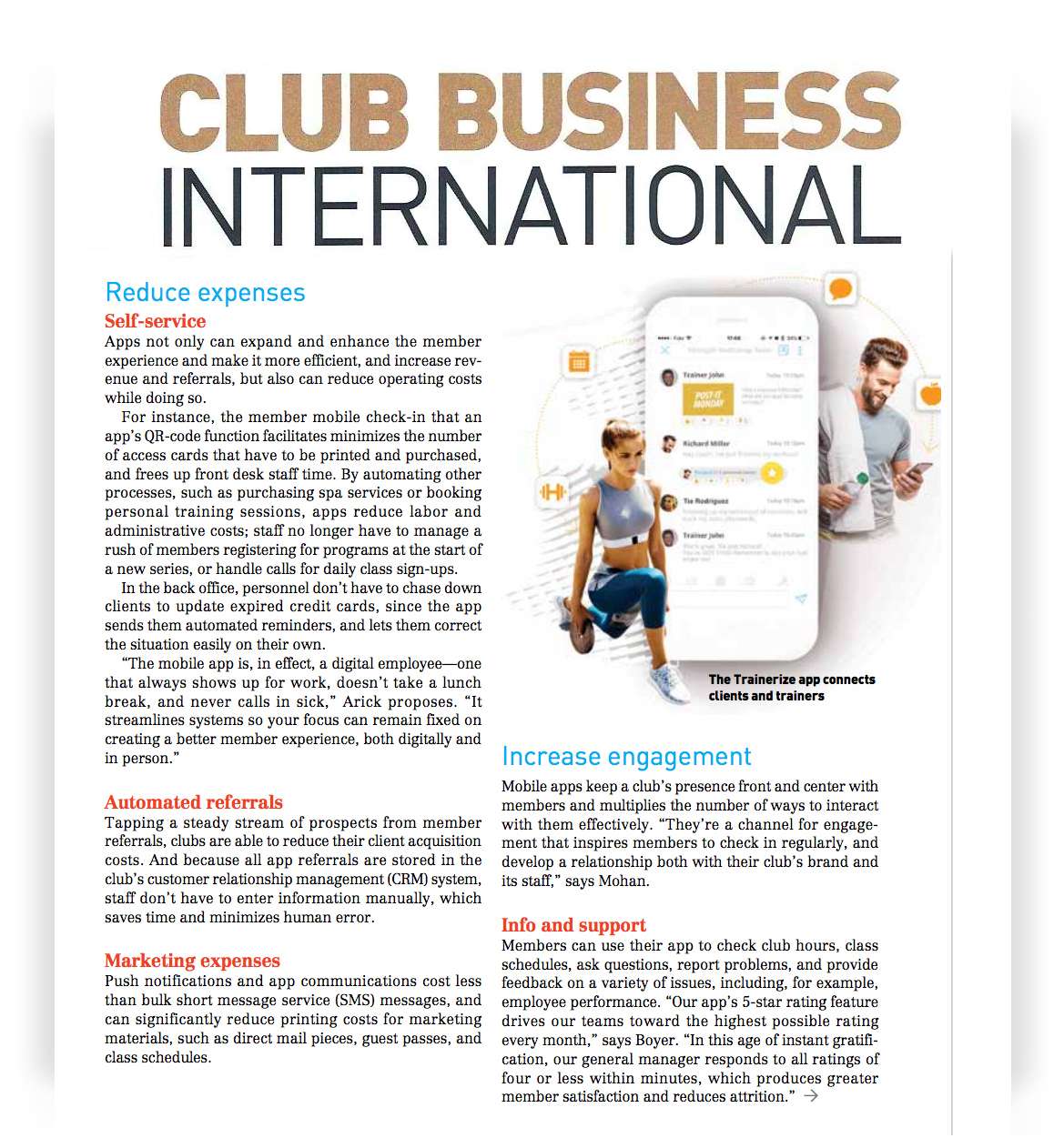 Trainerize CEO Talks Mobile Fitness Technology with Club Business International Magazine