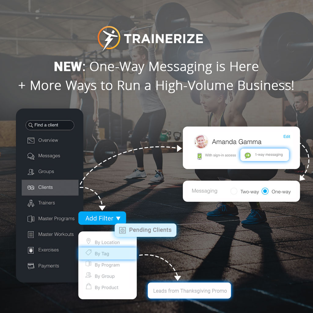 One-way messaging is here, brining more ways to manage high-volume businesses