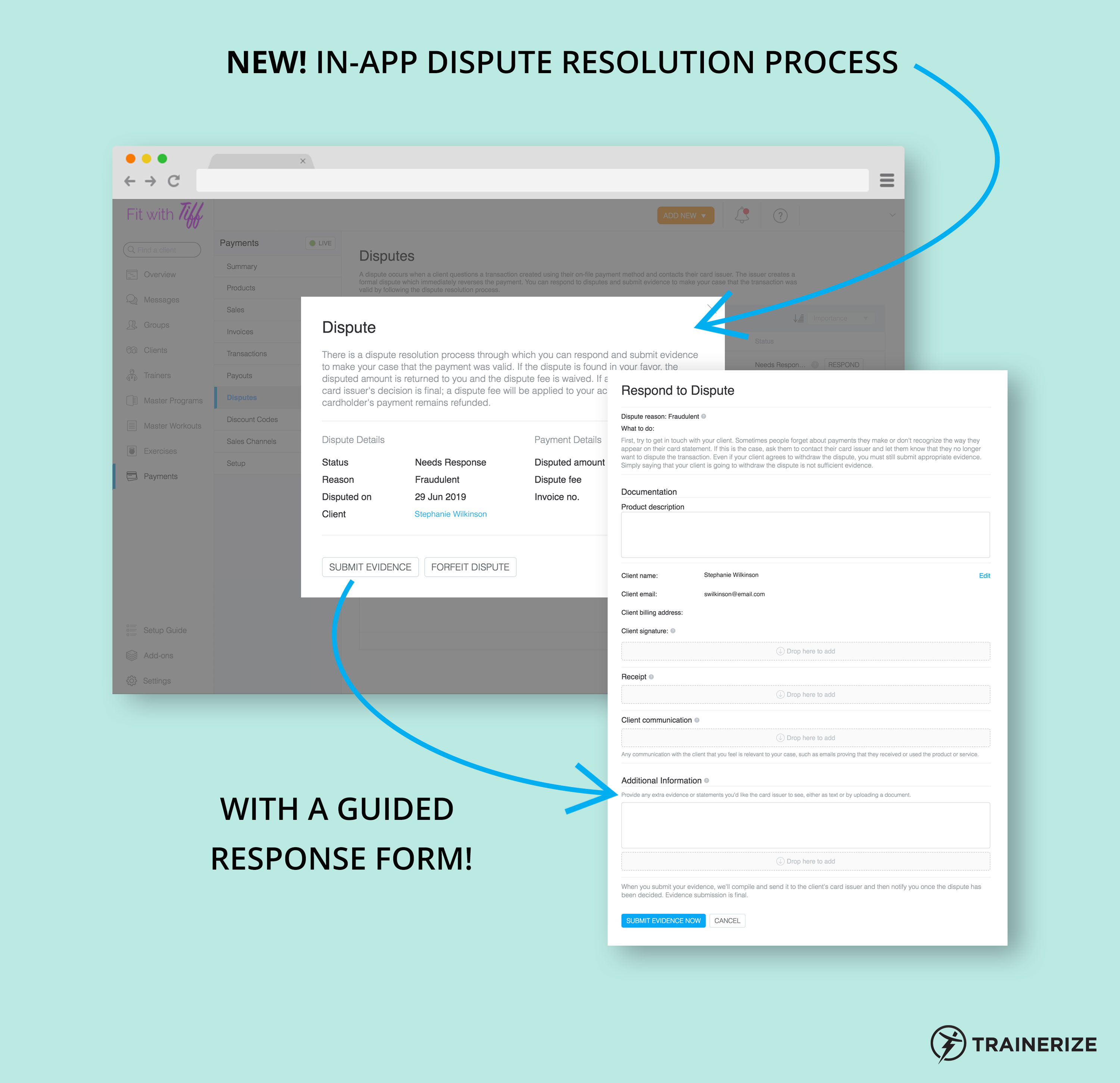 New in Trainerize Pay: Dispute Resolution Process