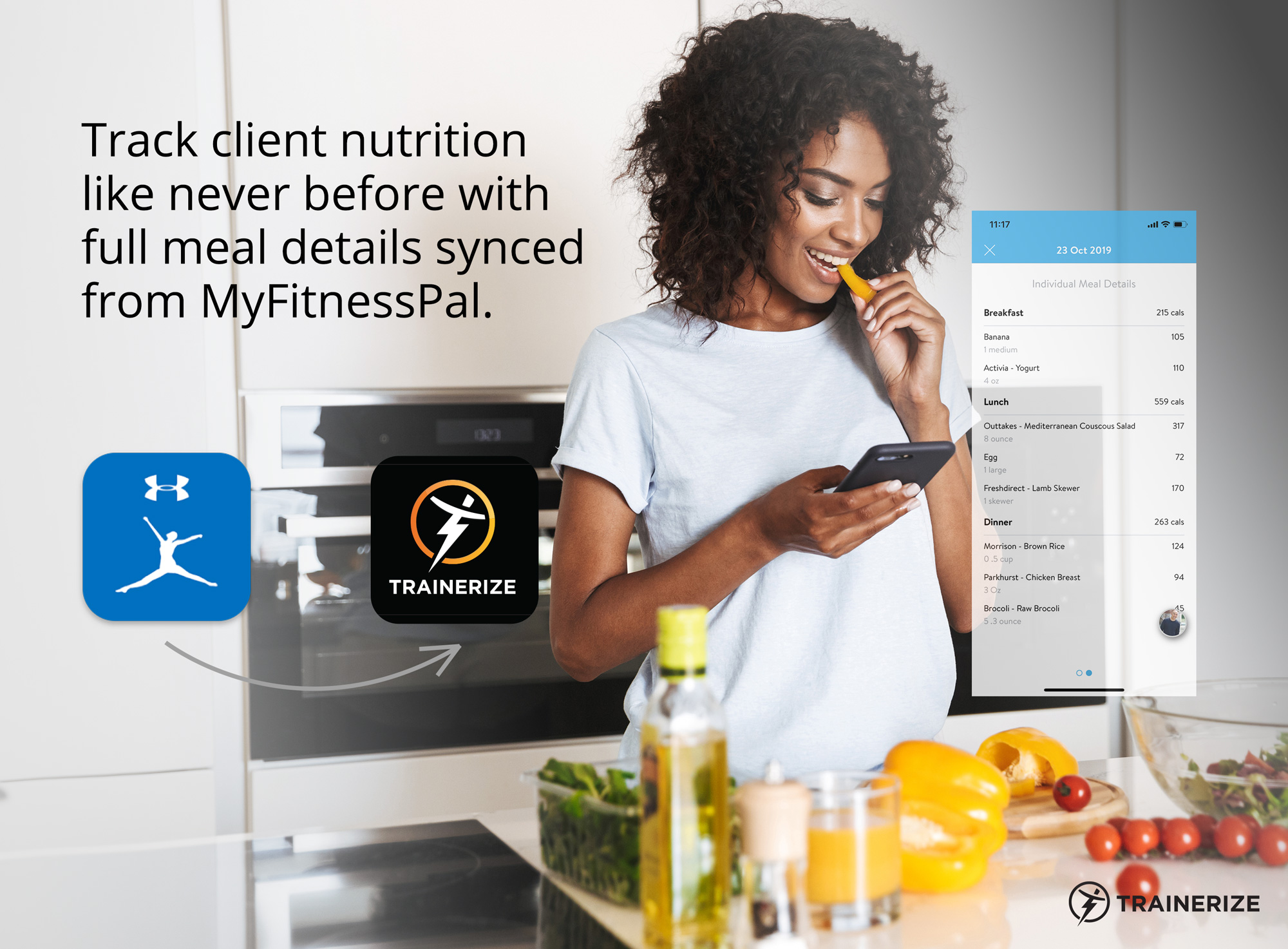 New in Trainerize: Full Meal Details Synced from MyFitnessPal