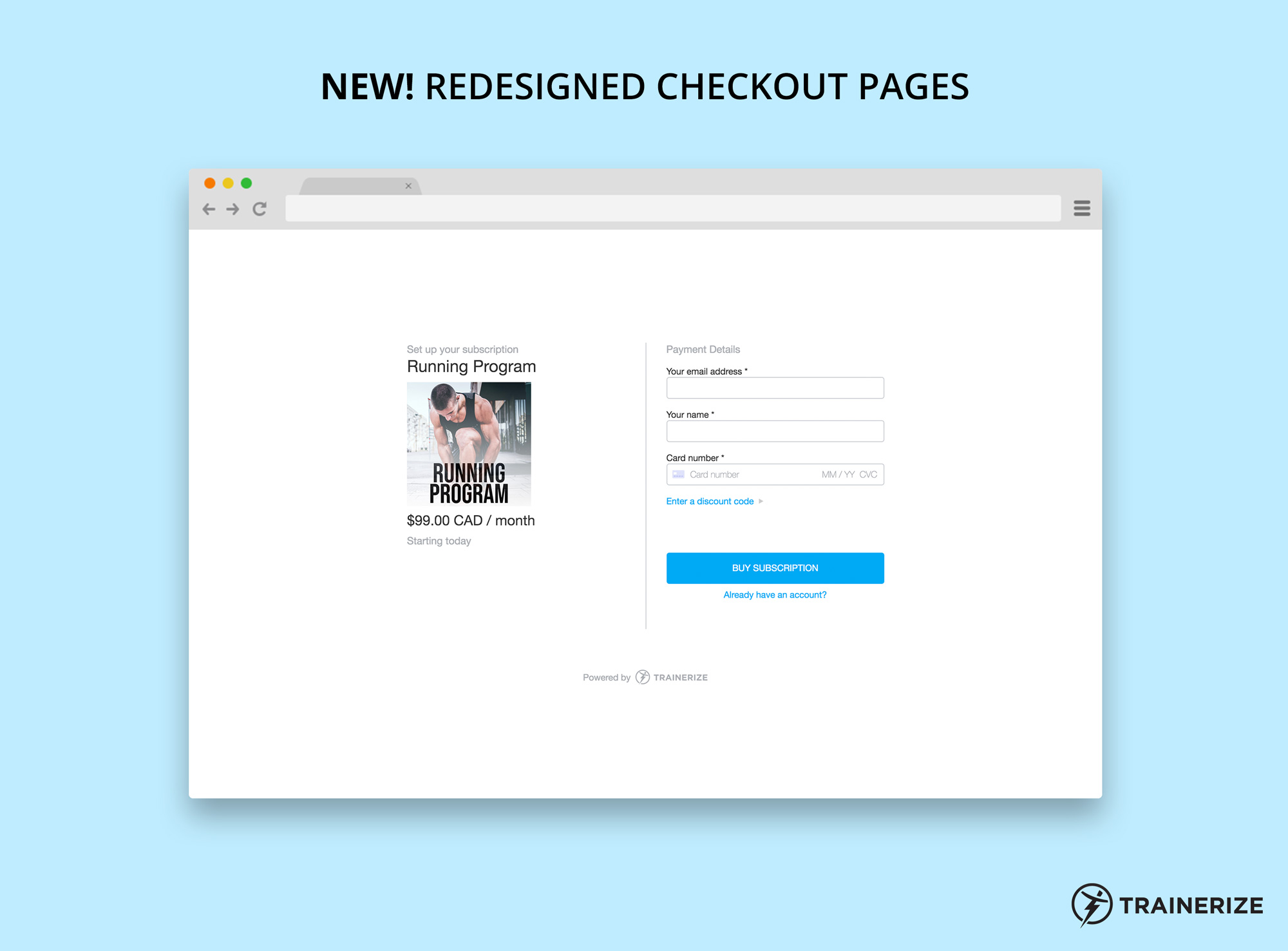 New in Trainerize Pay: Redesigned Checkout Pages