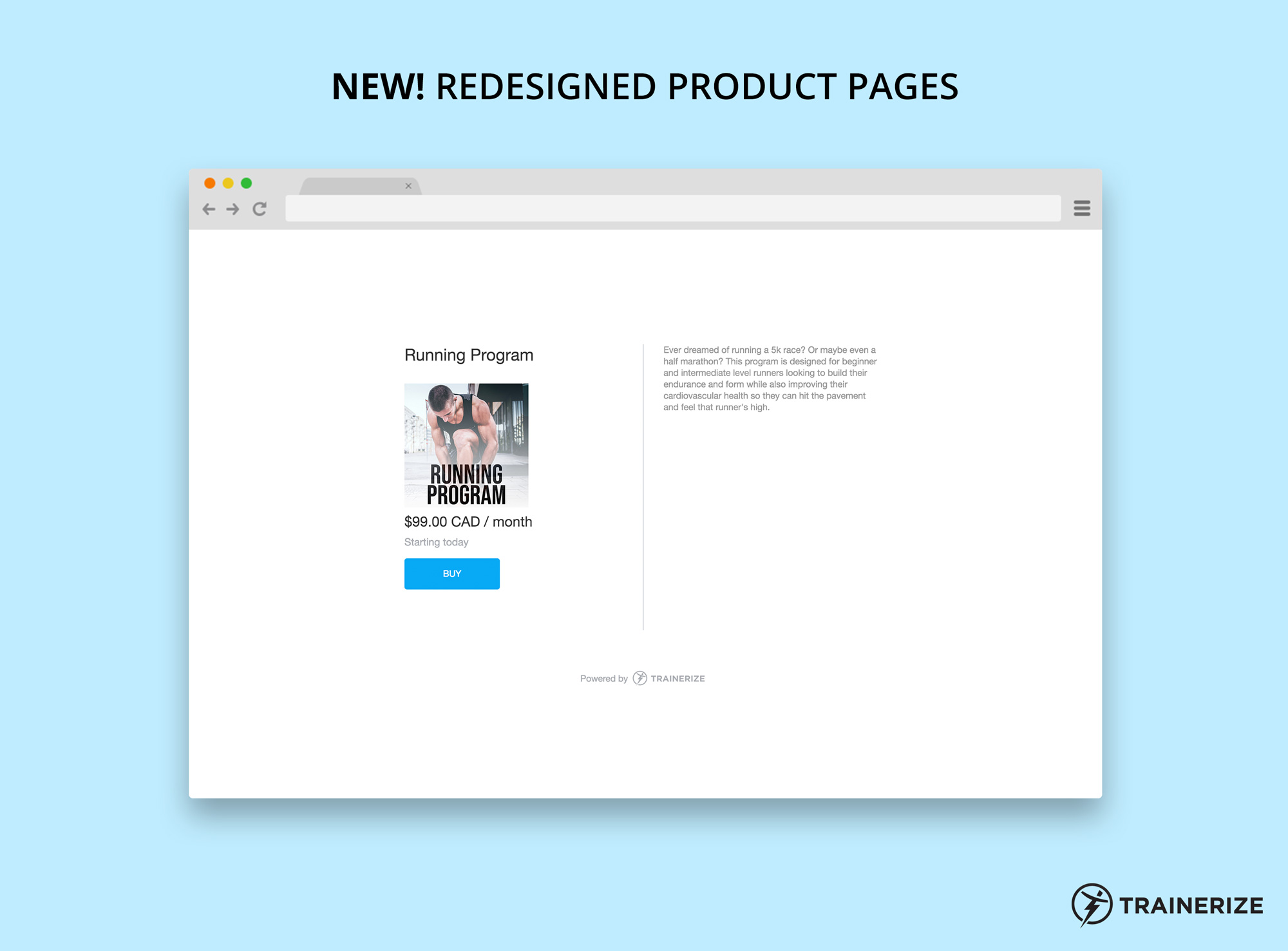 New in Trainerize Pay: Redesigned Product Pages