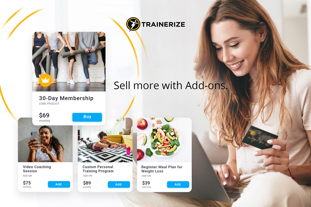 New in Trainerize Pay: Add-on Products