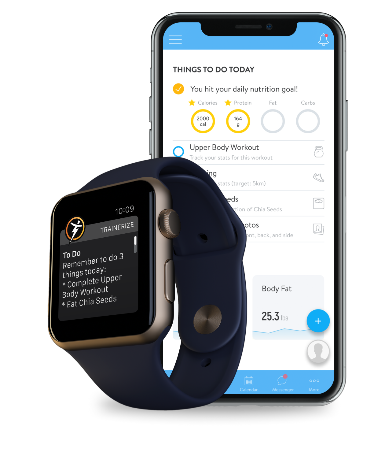 Check off things to do today with the Apple Watch App powered by Trainerize
