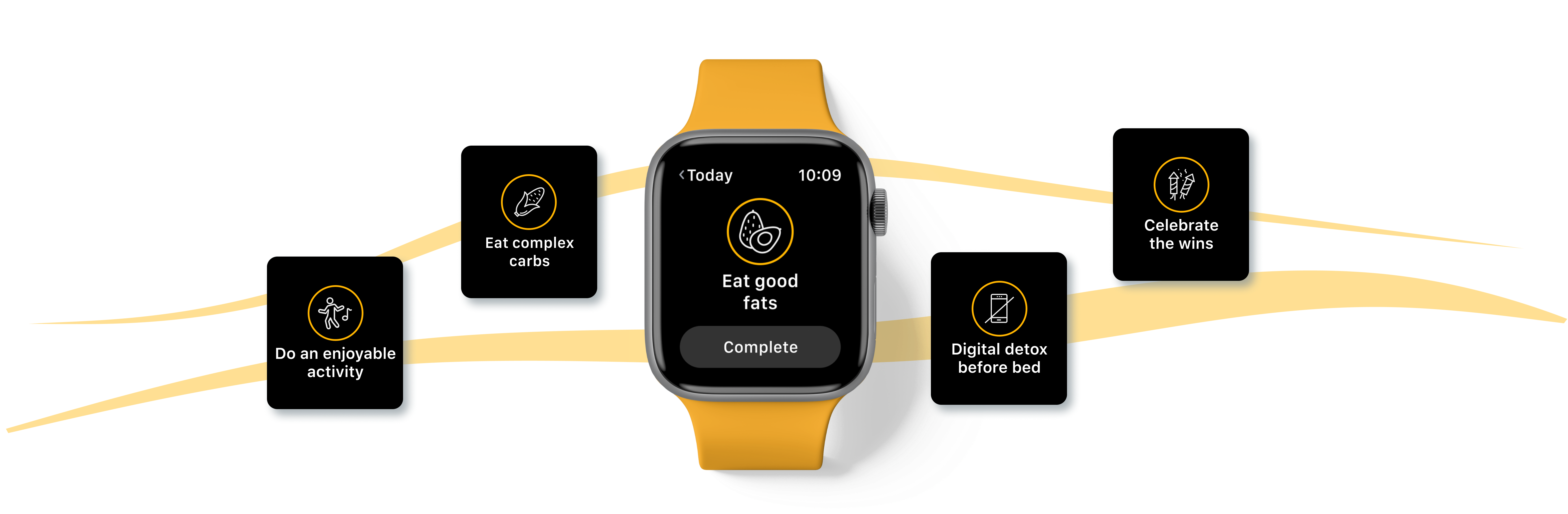 Clients can complete habits on the go with the new Apple Watch App powered by Trainerize