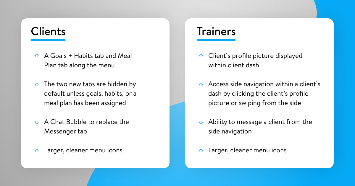 Client and Trainer Summary