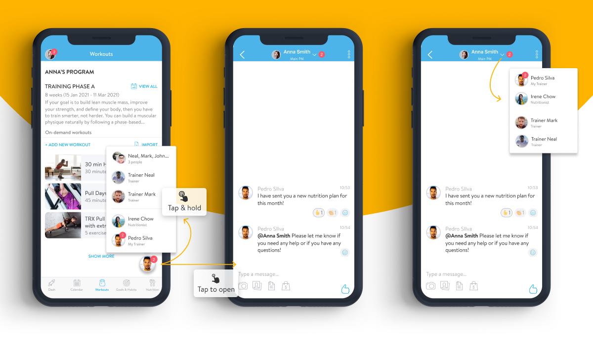 Chat Bubbles for clients