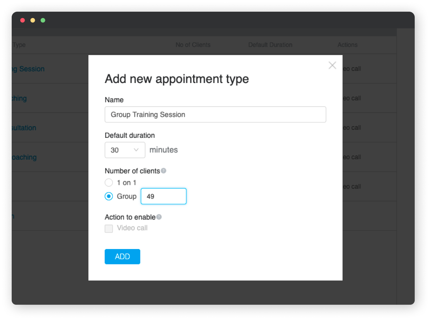 Creating a Group Appointment