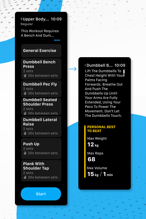 Apple Watch App powered by Trainerize - Exercise Preview