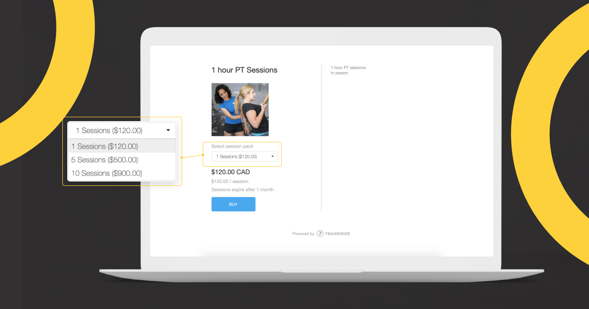 Session Packs Product Page