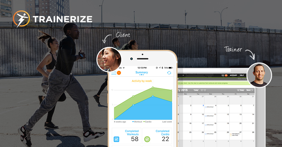 Trainerize app social share