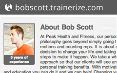Your Own Personal Trainer Website
